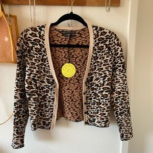 Urban Outfitters leopard print crop sweater